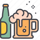 alcohol, beer, bottle, mug icon