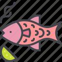 barbecue, fish, grill, seafood icon