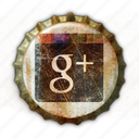 add, bottle, bottle cap, bottle crown, cap, crown, crowns, google, grunge, network, old, plus, retro, social, social media, vintage, worn icon