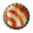 beer cap, feed, rss icon