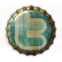 beer cap, twitter icon