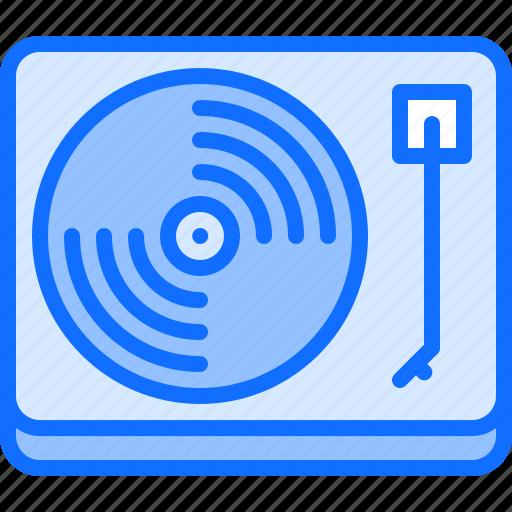appliance, device, electronics, record, retro, turntable, vinyl icon