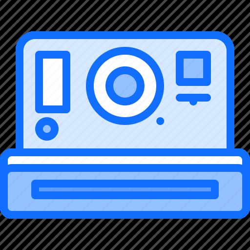 appliance, camera, device, electronics, instant, photo, retro icon