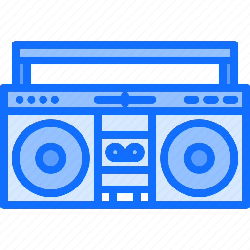 appliance, boombox, device, electronics, player, record, retro icon