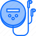 appliance, device, disk, electronics, headphones, player, retro icon