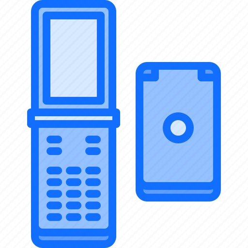 Appliance, clamshell, device, electronics, phone, retro icon - Download on Iconfinder