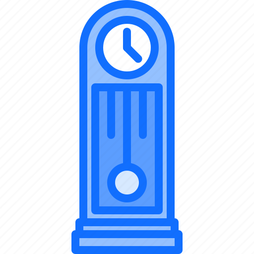 Appliance, clock, device, electronics, grandfather, retro icon - Download on Iconfinder