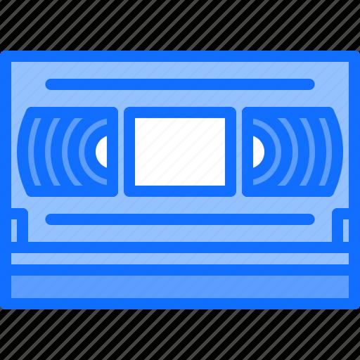 appliance, cassette, device, electronics, film, retro, video icon