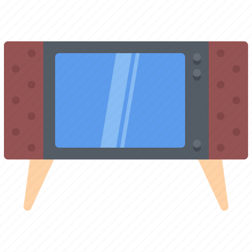 appliance, device, electronics, retro, television, tv icon