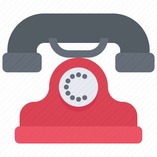 appliance, device, electronics, phone, retro, telephone icon