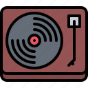 appliance, device, electronics, record, retro, turntable, vinyl icon