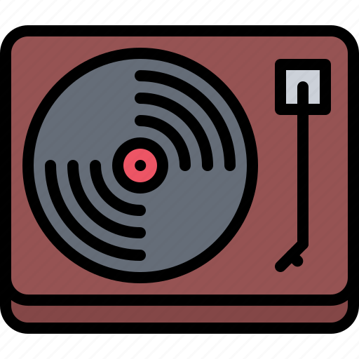 Appliance, device, electronics, record, retro, turntable, vinyl icon - Download on Iconfinder