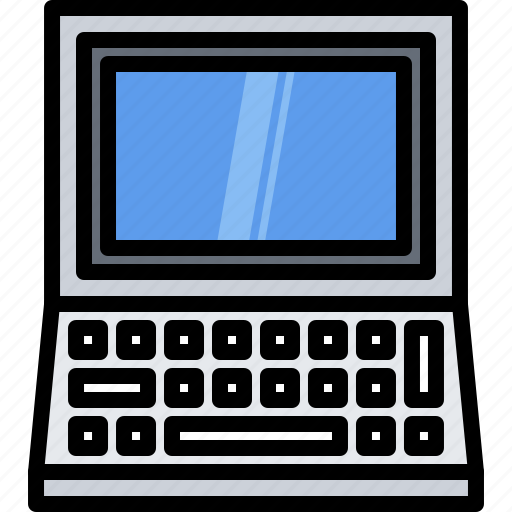 appliance, computer, device, electronics, keyboard, retro icon