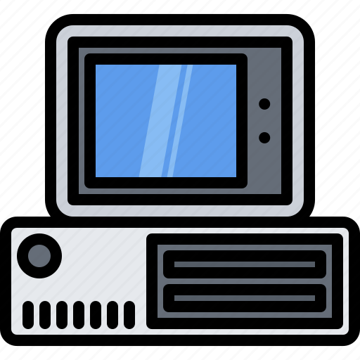 Appliance, computer, device, electronics, retro, system, unit icon - Download on Iconfinder
