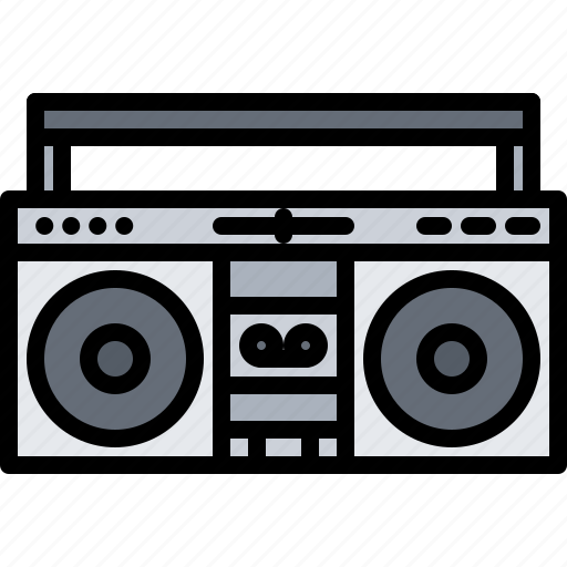 Appliance, boombox, device, electronics, player, record, retro icon - Download on Iconfinder