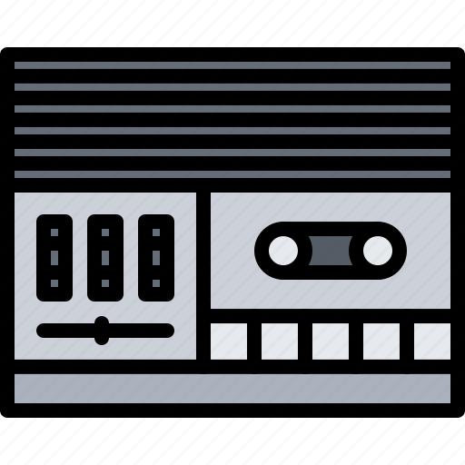 appliance, device, electronics, music, player, record, retro icon