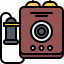 appliance, device, electronics, phone, retro, telephone icon