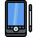 appliance, computer, device, electronics, pda, retro, stylus icon