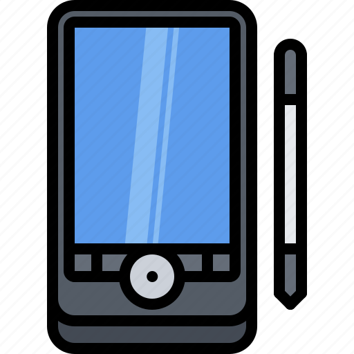 Appliance, computer, device, electronics, pda, retro, stylus icon - Download on Iconfinder
