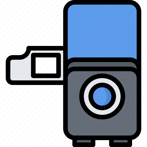 appliance, device, electronics, filmstrip, projector, retro icon