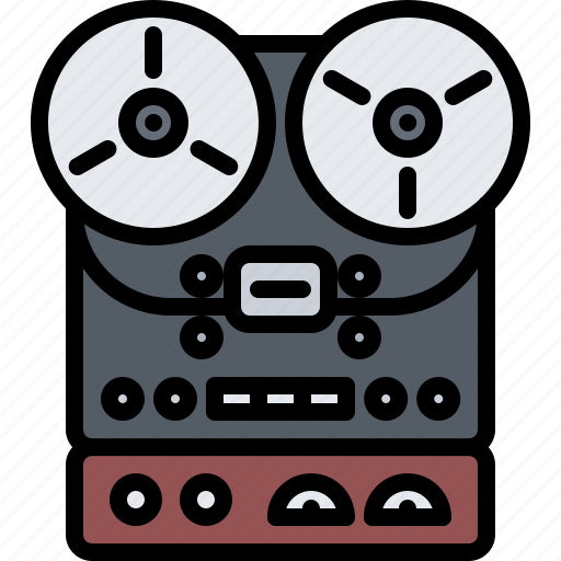 Appliance, device, electronics, player, record, retro icon - Download on Iconfinder