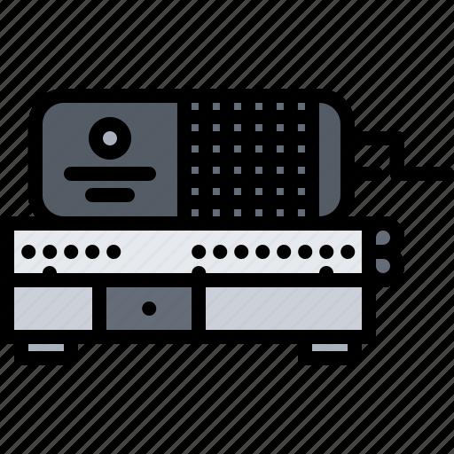 adding, appliance, calculator, device, electronics, machine, retro icon