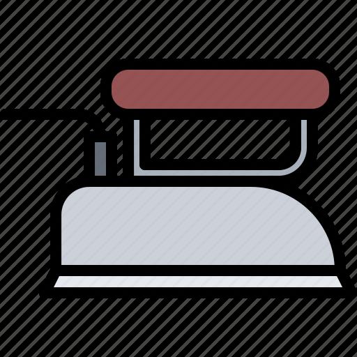 appliance, device, electronics, iron, ironing, retro icon