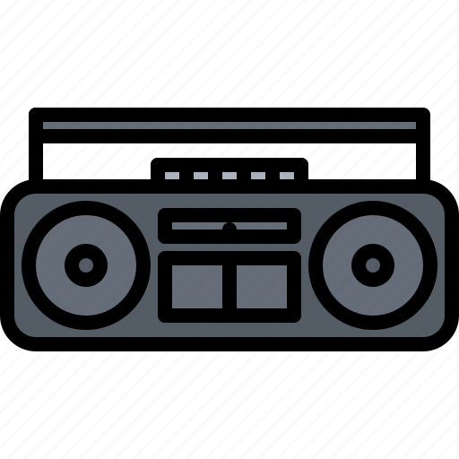 Appliance, cassette, device, electronics, player, record, retro icon - Download on Iconfinder