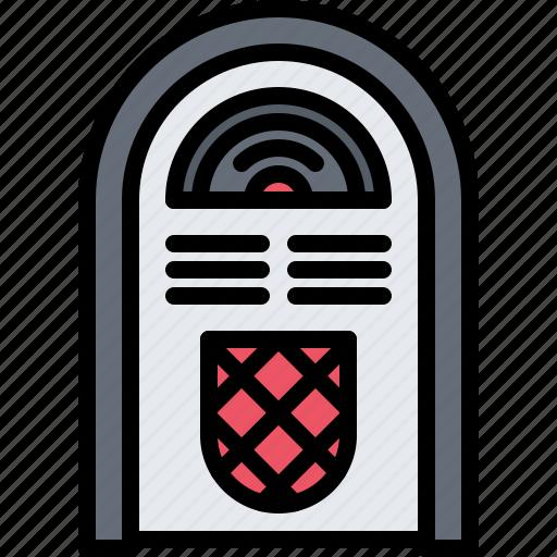 Appliance, device, electronics, jukebox, record, retro, vinyl icon - Download on Iconfinder