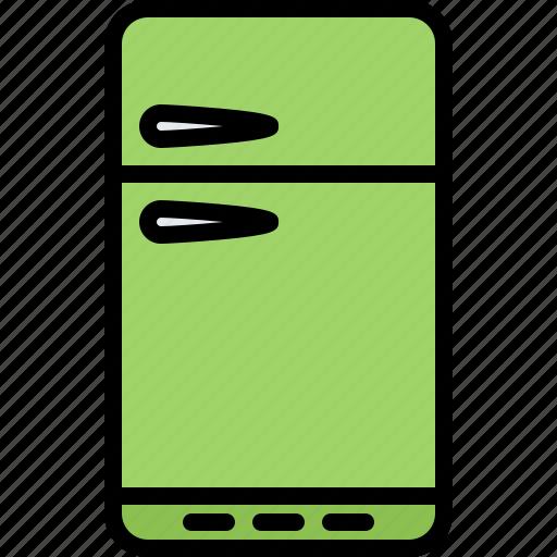 Appliance, device, electronics, fridge, refrigerator, retro icon - Download on Iconfinder