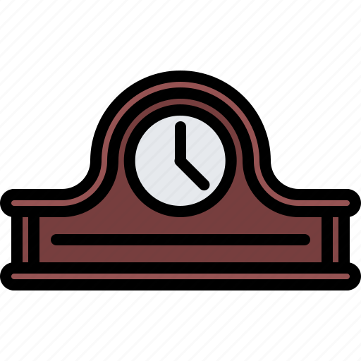 appliance, clock, desk, device, electronics, retro icon