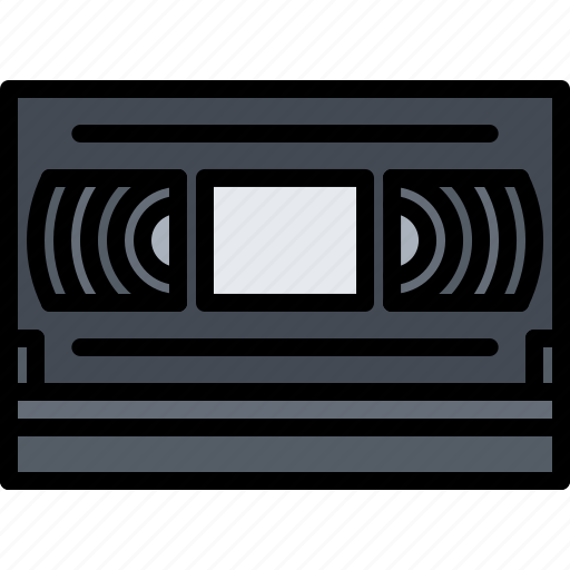 Appliance, cassette, device, electronics, film, retro, video icon - Download on Iconfinder