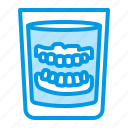 denture, glass, teeth icon