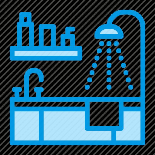 bath, bathroom, hygiene icon