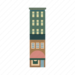 apartment, buildng, city, company, hotel, property, town icon
