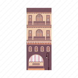 apartment, building, city, company, house, property, real estate icon