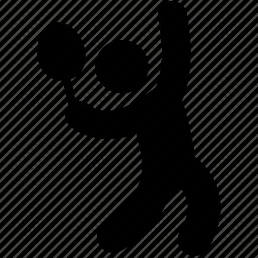 badminton, grass tennis, olympics sports, summer olympics, tennis service icon