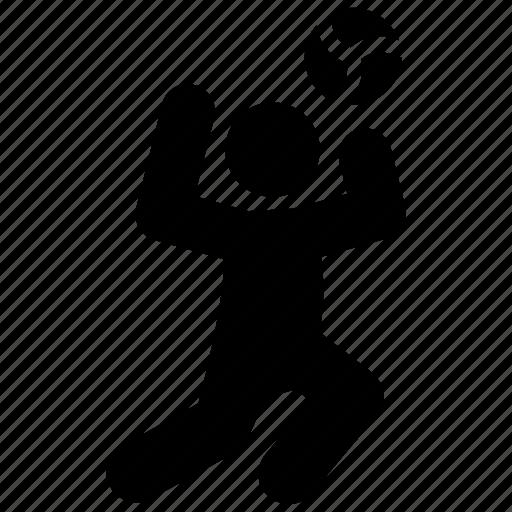 football, handball, headshot, olympics game, player figure icon