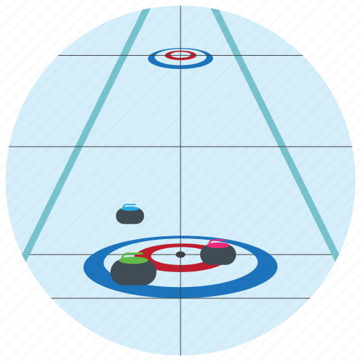 broom, circle, curling, ice, olympic, sports icon