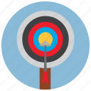 archery, arrow, bullseye, shoot, sports, target icon