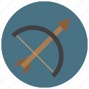 archery, arrow, bow, shoot, sports, target icon