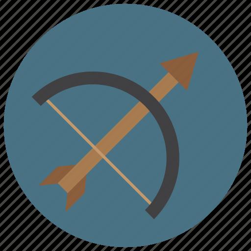 archery, arrow, bow, shoot, sports, target icon