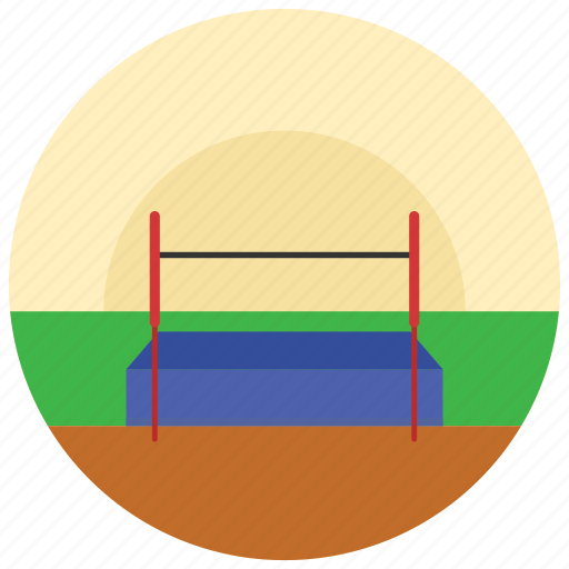 athlectics, high, jump, mattress, sports icon