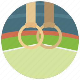 gymnast, olympics, rings, sports, strength, training icon