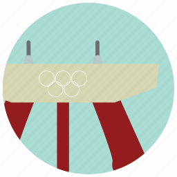 bench, gymnast, olympics, sports, strength icon