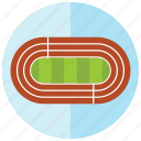 arena, circle, course, race, speed, sports icon