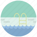 ladder, pool, speed, sports, swimming, water icon