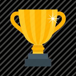 award, celebration, champion, golden, olympic, trophy, victory icon