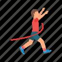 crossing, finish, line, olympic, race, runner, sport