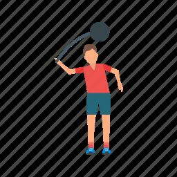 athletics, field, hammer, olympics, sport, stadium, throw icon